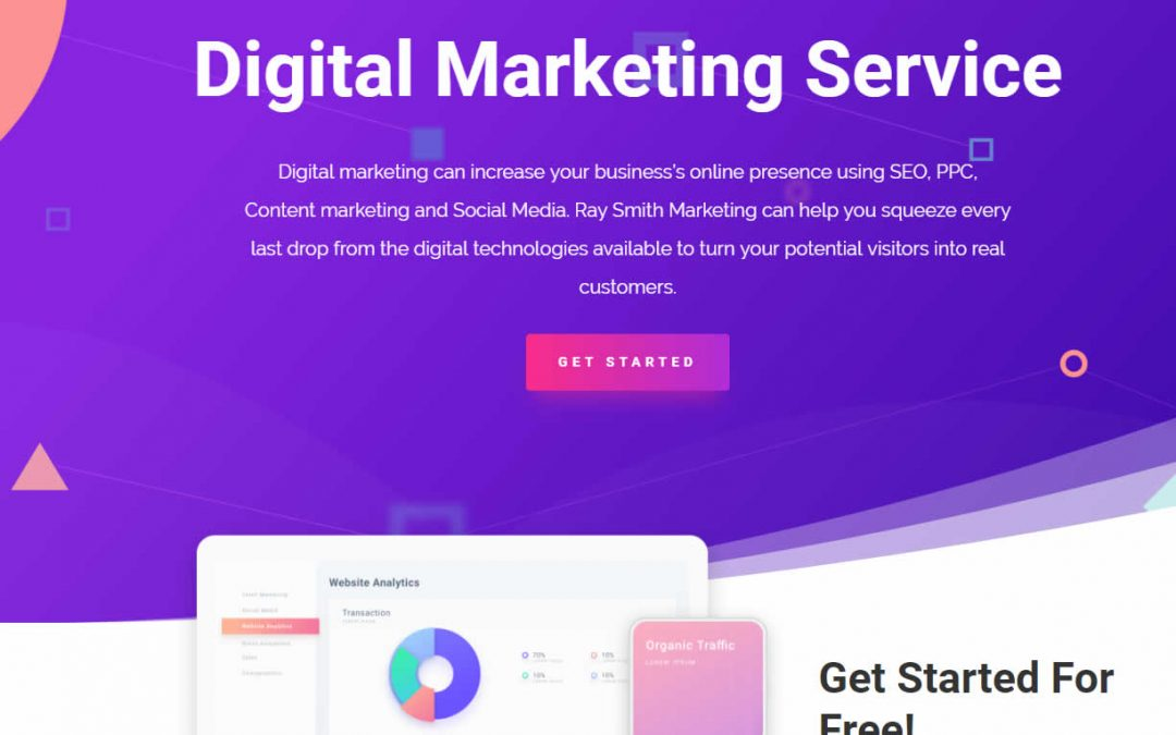 New website for Ray Smith Marketing